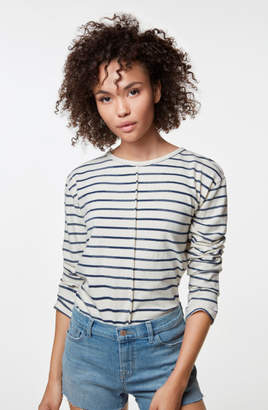 J Brand Remy Long Sleeve Tee In Catalina Stripe