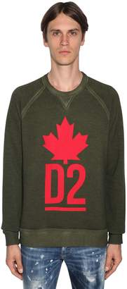 DSQUARED2 Printed Cotton Jersey Sweatshirt