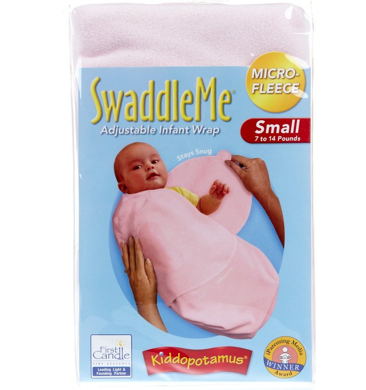 Summer Infant Kiddopotomus Swaddle Me Microfleece - Pink - Small/Medium