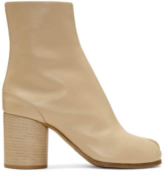 Maison Margiela Beige Leather Tabi Boots