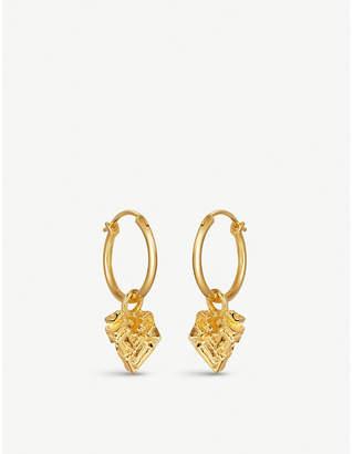 Missoma Ltd Geo Bismuth 18ct gold-plated hoop earrings