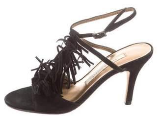 Cynthia Vincent Suede Fringe Sandals