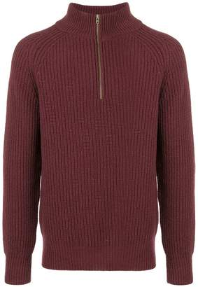 Closed ribbed long-sleeve sweater