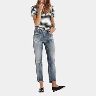 AG Jeans Phoebe Jean in 17 Years Lapse Mended