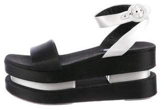 Prada Double Platform Sandals