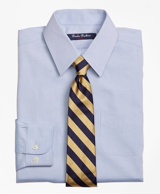Brooks Brothers Non-Iron Supima Pinpoint Cotton Forward Point Dress Shirt
