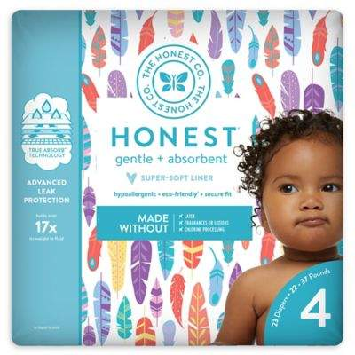 The Honest Company Honest 23-Pack Size 4 Diapers in Painted Feathers Pattern