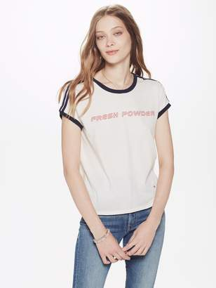 Mother Goodie Goodie Crop Ringer Tee - Fresh Powder Dirty White