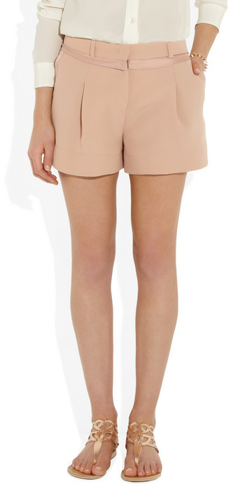 See by Chloe Satin-trimmed crepe shorts