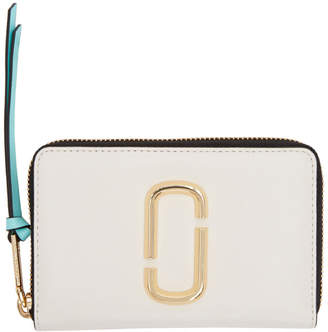 Marc Jacobs White and Red Compact Snapshot Wallet