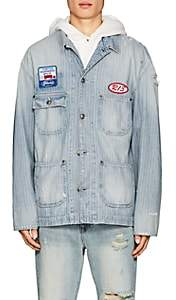 R 13 Men's Evelyn Denim Mechanic Jacket-Blue Size L