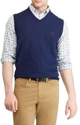 Chaps Big Tall Cotton V-Neck Sweater Vest