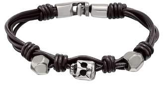 Uno de 50 Audacious Knotted Bead Leather Bracelet