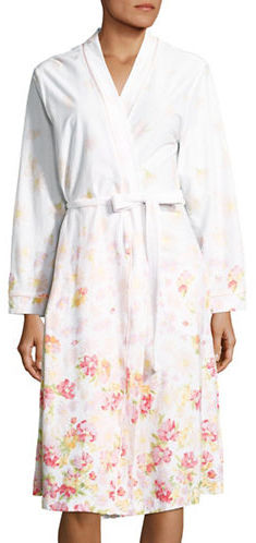 Carole HochmanCarole Hochman Floral Wrap Front Cotton Robe