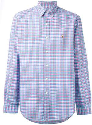 Ralph Lauren button-down plaid shirt