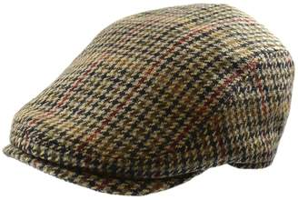 London Fog Houndstooth Wool-Blend Ivy Cap