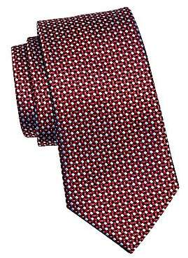 Ermenegildo Zegna Men's Multi Diamond Silk Tie