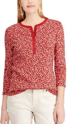 Chaps Petite Cotton Henley Shirt