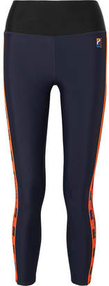 P.E Nation Victory Paneled Stretch Leggings - Navy
