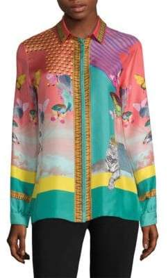 Etro Butterfly Silk Blouse