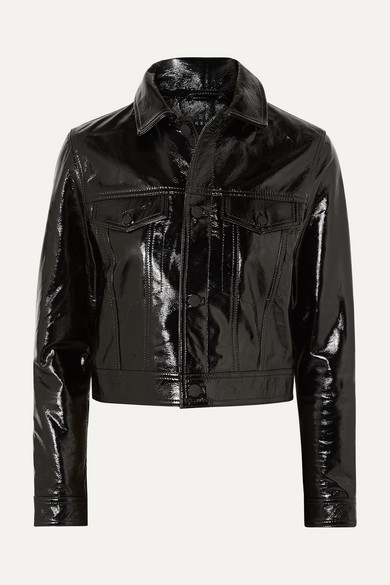 A2b Textured Patent-leather Jacket - Black