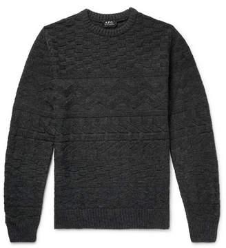 A.P.C. Textured Mélange Wool Sweater