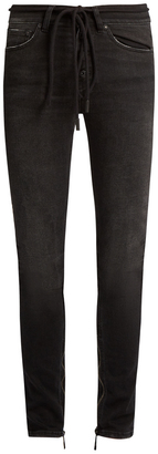 OFF-WHITE High-rise skinny jeans $354 thestylecure.com