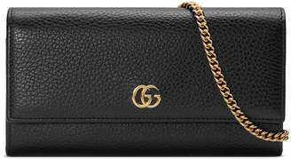 81ba63a0560 Gucci GG Marmont leather chain wallet