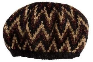 Eugenia Kim Knit Mohair Beanie Brown Knit Mohair Beanie