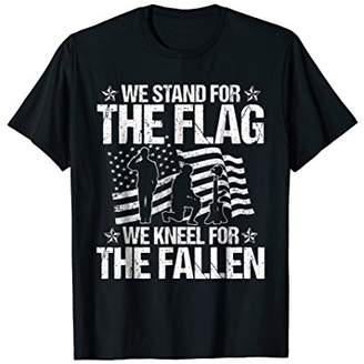 Stand Flag Kneel For The Fallen Soldier American Flag Shirt
