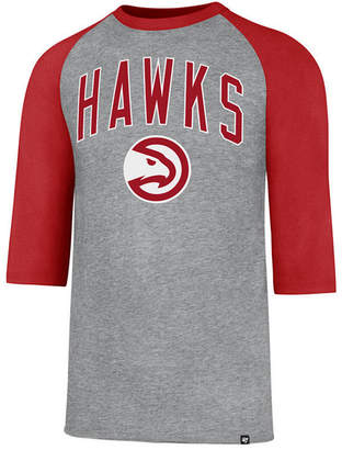 '47 Men's Atlanta Hawks Zone Raglan Three-Quarter Sleeve T-Shirt