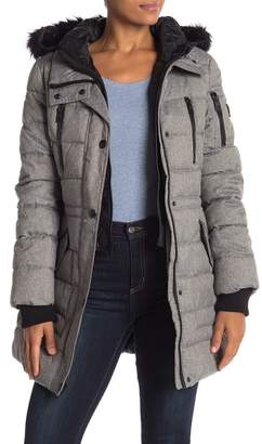 GUESS Faux Fur Trim Jacket