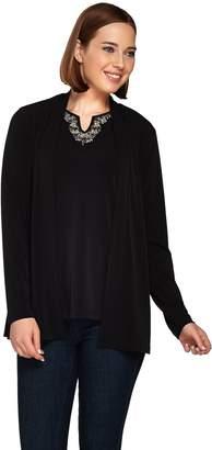 Susan Graver Artisan Liquid Knit Long Sleeve Cardigan Set