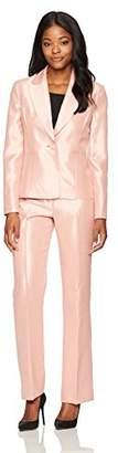 Le Suit Women's Shiny 1 Button Pant