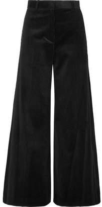 Bella Freud Bianca Cotton-corduroy Wide-leg Pants - Black