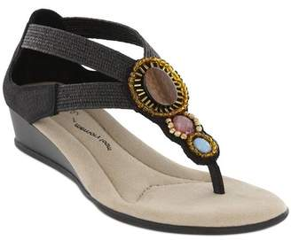 MIA AMORE Baylee Embelished Wedge Thong Sandal