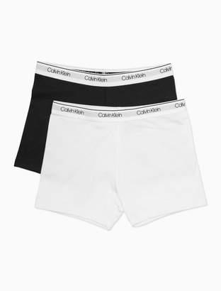 Calvin Klein girls 2-pack logo play short