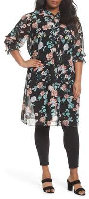 Vince Camuto Faded Blooms Tunic Dress