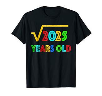 Vintage Square Root of 2025: 45th Birthday Gift T-Shirt