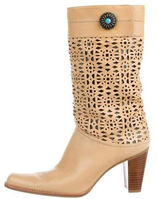 Stuart Weitzman Leather Mid-Calf Boots