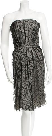 Saint LaurentYves Saint Laurent Strapless Lace Dress