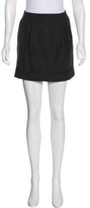 Burberry Wool & Angora Mini Skirt