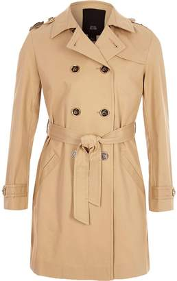 River Island Girls Beige belted trench coat