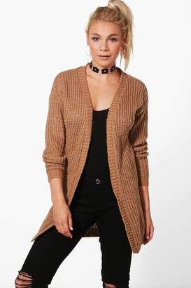boohoo Long Edge To Edge Grungy Cardigan