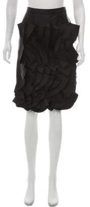 Behnaz Sarafpour Wool Pleated Skirt