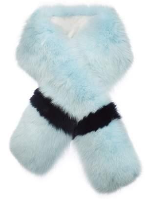 Arabella Lilly E Violetta Womens Striped Fox Fur Scarf