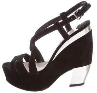 Miu Miu Platform Suede Sandals