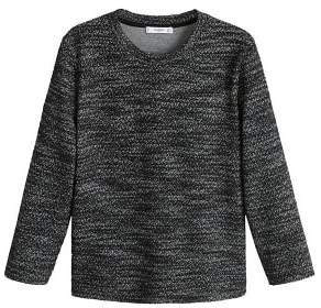 MANGO Flecked cotton-blend sweatshirt