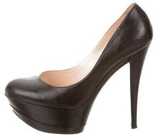 Casadei Leather Platform Pumps $145 thestylecure.com