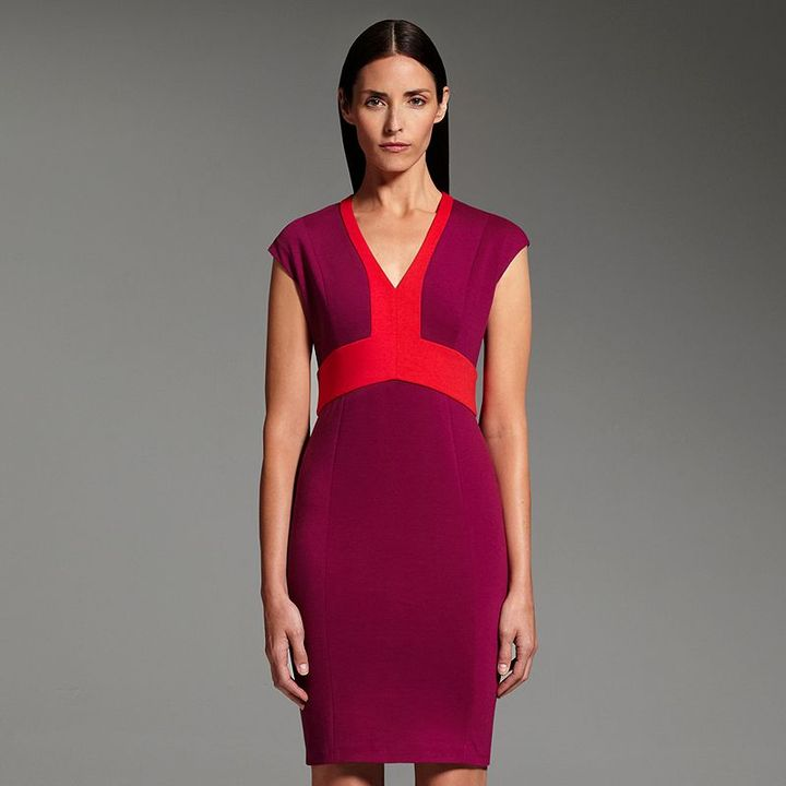 Narciso Rodriguez for designation colorblock ponte sheath dress